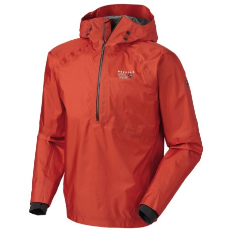 Mountain Hardwear Quasar Dry.Q® Elite Pullover Jacket - Waterproof (For Men) in State Orange