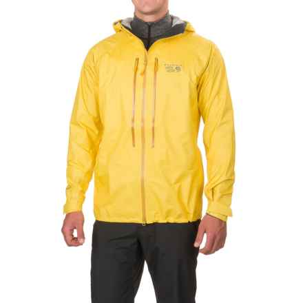 Mountain Hardwear Quasar II Dry.Q® Elite Jacket - Waterproof (For Men) in Electron Yellow - Closeouts