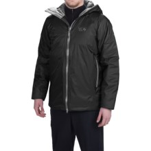 Mountain Hardwear Quasar Jacket - Waterproof, Insulated (For Men) in Shark/Titanium - Closeouts