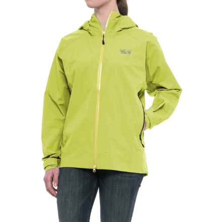 Mountain Hardwear Quasar Lite Dry.Q® Elite Jacket - Waterproof (For Women) in Sticky Note - Closeouts