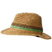 Mountain Hardwear Raffia Fedora (For Women) in Crater/Dolphin - Closeouts