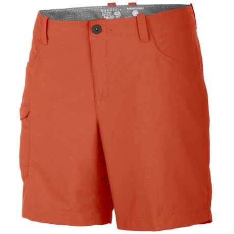 Mountain Hardwear Ramesa V2 Shorts - UPF 50 (For Women) in Red Canyon