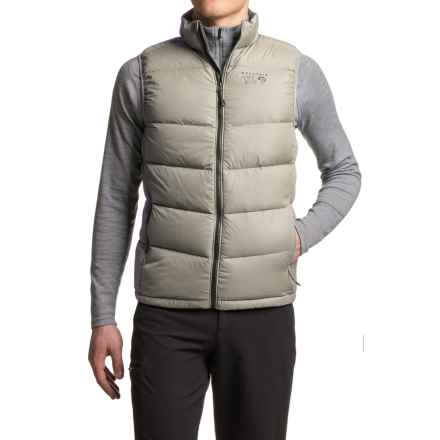 Mountain Hardwear Ratio Down Vest - 650 Fill Power (For Men) in Fossil - Closeouts