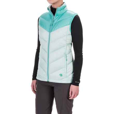 Mountain Hardwear Ratio Down Vest - 650 Fill Power (For Women) in Gossamer Blue/Spruce Blue - Closeouts