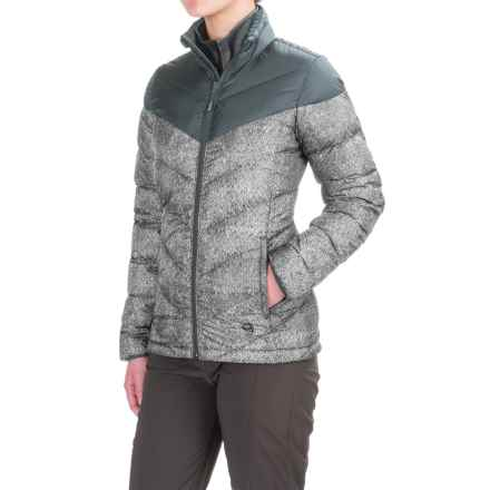 Mountain Hardwear Ratio Printed Down Jacket - 650 Fill Power (For Women) in Graphite/Steam - Closeouts