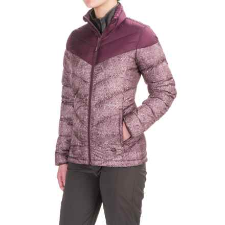 Mountain Hardwear Ratio Printed Down Jacket - 650 Fill Power (For Women) in Marionberry/Purple Plum - Closeouts
