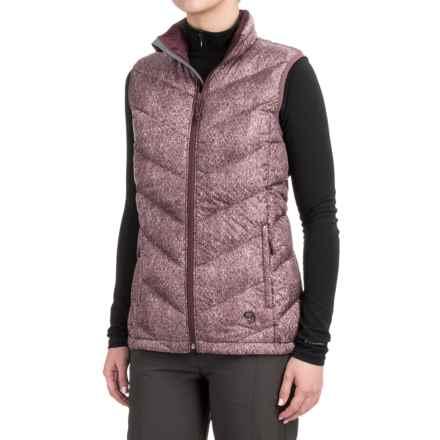Mountain Hardwear Ratio Printed Down Vest - 650 Fill Power (For Women) in Purple Plum - Closeouts