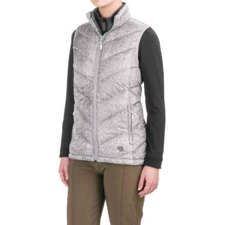 Mountain Hardwear Ratio Printed Down Vest - 650 Fill Power (For Women) in Steam - Closeouts