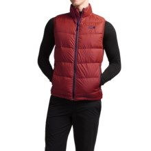 Mountain Hardwear Ratio Q.Shield® Down Vest - 650 Fill Power (For Men) in Smolder Red/Hardwear Navy - Closeouts