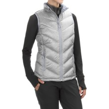 Mountain Hardwear Ration Printed Q.Shield® Down Vest - 650 Fill Power (For Women) in Steam - Closeouts