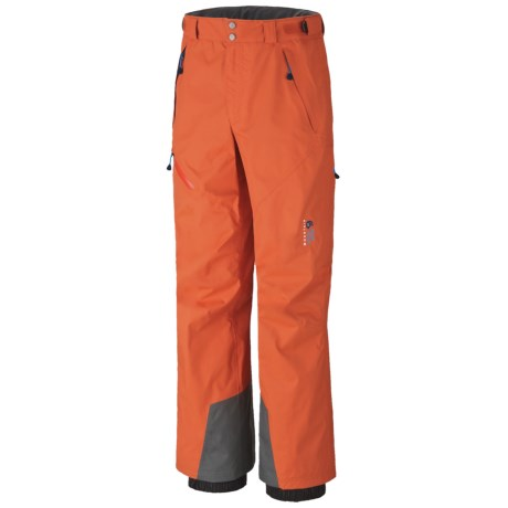 Mountain Hardwear Returnia Dry.Q® Core Snow Pants - Waterproof, Insulated (For Men) in Bonfire