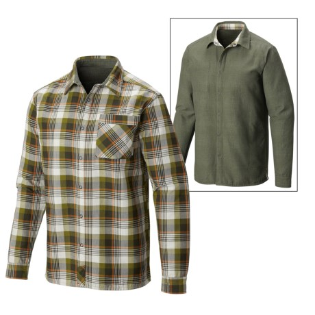 Mountain Hardwear Reversible Flannel Plaid Shirt Long Sleeve (For Men)