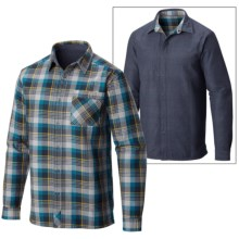 Mountain Hardwear Reversible Flannel Plaid Shirt - Long Sleeve (For Men) in Phoenix Blue - Closeouts