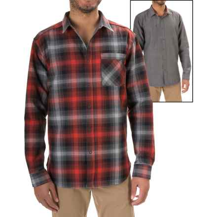Mountain Hardwear Reversible Plaid Shirt - Snap Front, Long Sleeve (For Men) in Dark Fire - Closeouts