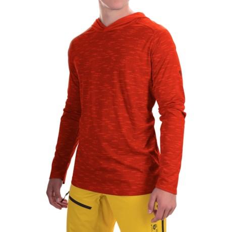 Mountain hardwear river gorge hooded shirt upf 50 long for Men s upf long sleeve shirt