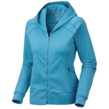 Mountain Hardwear Roga Butter Hoodie Sweatshirt - UPF 50, Full Zip (For Women) in Oxide Blue - Closeouts