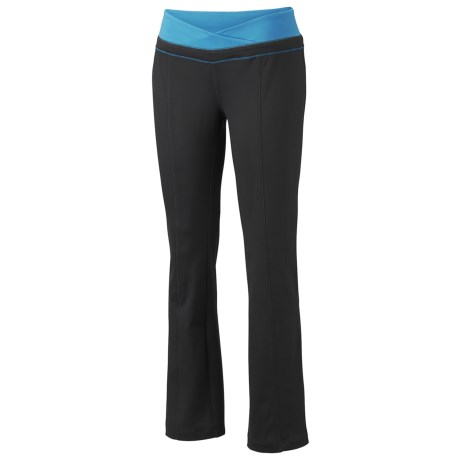 Mountain Hardwear Roga Butter Pants - UPF 50 (For Women) in Black/Ruby
