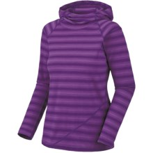 Mountain Hardwear Rosaria Hoodie Shirt - Merino Wool, Long Sleeve (For Women) in Iris Glow/Dewberry - Closeouts