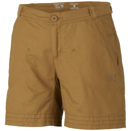 Mountain Hardwear Sandhills Shorts - Organic Cotton-Hemp (For Women) in Mesquite