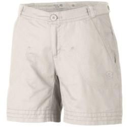 Mountain Hardwear Sandhills Shorts - Organic Cotton-Hemp (For Women) in Sea Salt