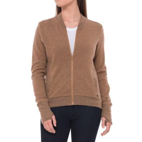 Mountain Hardwear Sarafin Bomber Sweater Jacket (For Women) in Buck
