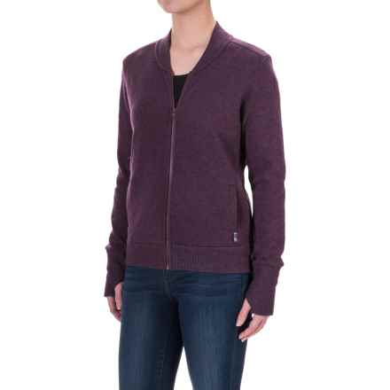 Mountain Hardwear Sarafin Bomber Sweater Jacket (For Women) in Marionberry - Closeouts