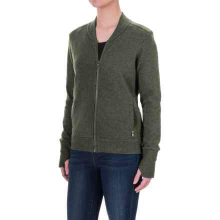 Mountain Hardwear Sarafin Bomber Sweater Jacket (For Women) in Stone Green - Closeouts