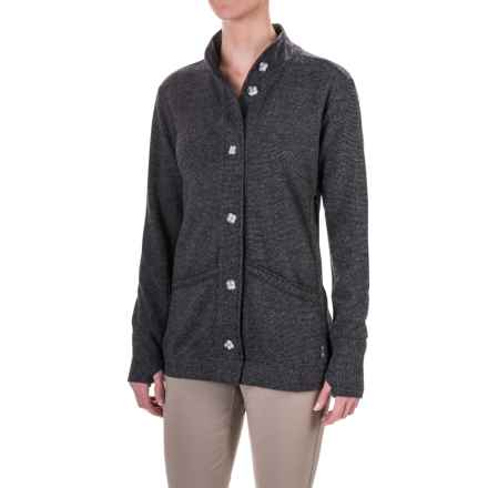 Mountain Hardwear Sarafin Cardigan Sweater (For Women) in Black - Closeouts