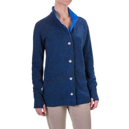 Mountain Hardwear Sarafin Cardigan Sweater (For Women) in Bright Island Blue - Closeouts