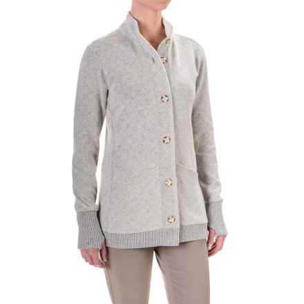 Mountain Hardwear Sarafin Cardigan Sweater (For Women) in Stone - Closeouts