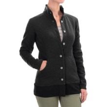 Mountain Hardwear Sarafin Cardigan Sweater - Recycled Wool Blend (For Women) in Black - Closeouts