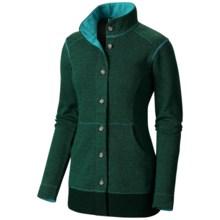 Mountain Hardwear Sarafin Cardigan Sweater - Recycled Wool Blend (For Women) in Mayan Green - Closeouts