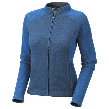 Mountain Hardwear Sarafin Cardigan Sweater - Recycled Wool Blend, Full Zip (For Women) in Cool Wave