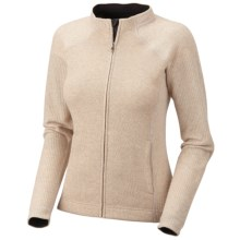 Mountain Hardwear Sarafin Cardigan Sweater - Recycled Wool Blend, Full Zip (For Women) in Dolomite - Closeouts