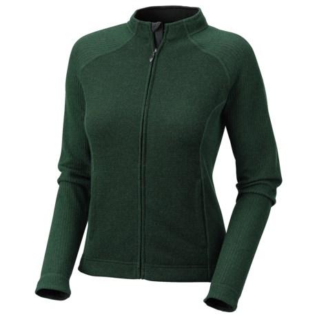 Mountain Hardwear Sarafin Cardigan Sweater - Recycled Wool Blend, Full Zip (For Women) in Sherwood