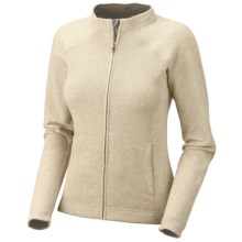 Mountain Hardwear Sarafin Cardigan Sweater - Recycled Wool Blend, Full Zip (For Women) in Snow - Closeouts