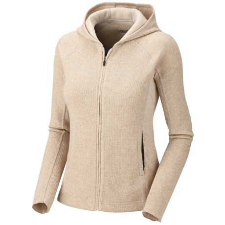 Mountain Hardwear Sarafin Hooded Sweatshirt - Wool, Recycled Materials (For Women) in Dolomite