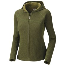 Mountain Hardwear Sarafin Hooded Sweatshirt - Wool, Recycled Materials (For Women) in Jungle - Closeouts