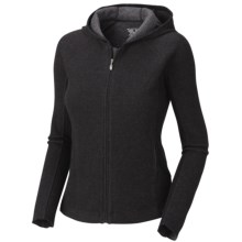 Mountain Hardwear Sarafin Hoodie - Wool, Recycled Materials (For Women) in Black - Closeouts