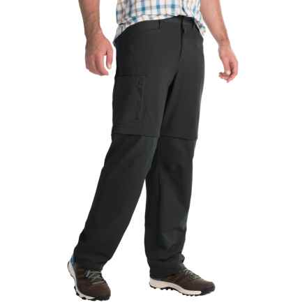 Mountain Hardwear Sawhorse Canvas Convertible Pants - UPF 50 (For Men) in Black - Closeouts