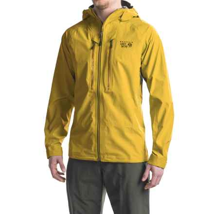 Mountain Hardwear Seraction Dry.Q® Elite Jacket - Waterproof (For Men) in Electron Yellow - Closeouts