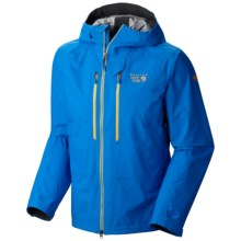 Mountain Hardwear Seraction Dry.Q® Elite Jacket - Waterproof (For Men) in Hyper Blue/Shark - Closeouts
