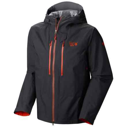 Mountain Hardwear Seraction Dry.Q® Elite Jacket - Waterproof (For Men) in Shark/State Orange - Closeouts