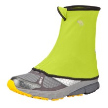Mountain Hardwear Seta Strapless Running Gaiters (For Men) in Acid Green - Closeouts