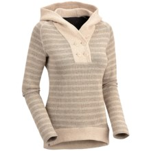 Mountain Hardwear Sevina Hoodie Sweatshirt - Wool Blend (For Women) in Dolomite - Closeouts