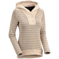 Mountain Hardwear Sevina Hoodie - Wool Blend (For Women) in Collegiate Navy