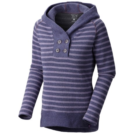 Mountain Hardwear Sevina Hoodie - Wool Blend (For Women) in Dusty Purple