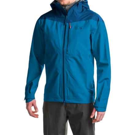 Mountain Hardwear Sharkstooth Dry.Q® Elite Hooded Jacket - Waterproof (For Men) in Dark Compass/Phoenix Blue - Closeouts