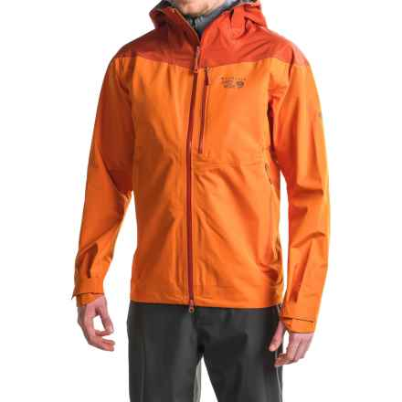 Mountain Hardwear Sharkstooth Dry.Q® Elite Hooded Jacket - Waterproof (For Men) in Orange Copper/Dark Copper - Closeouts