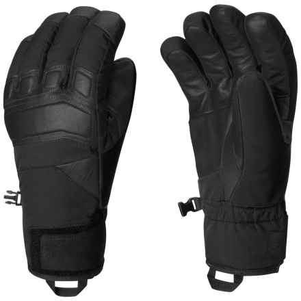 Mountain Hardwear Snojo Thermal.Q Elite Gloves - Leather Palms, Waterproof (For Men) in Black - Closeouts